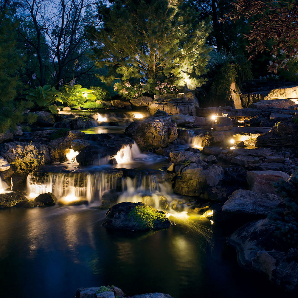 Kichler Landscape Night Rocky Waterfall